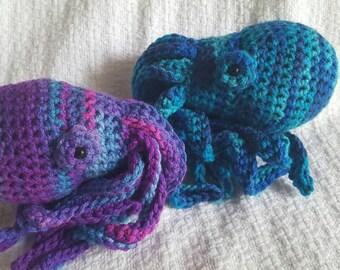 Tie-dye Amigurumi Octopus