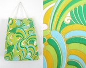 MOD Paisley Weatherproof Tote Satchel Bag 1960s Beach Shopping Handbag