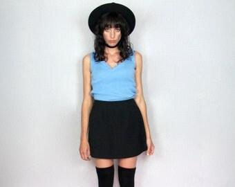 Pastel Blue Shirt 90s Scoop Neck Sweater Top Ralph Lauren Womens VTG - Size M