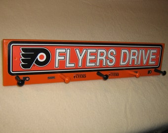 "Philadelphia Flyers coat rack ""hangup""  (convo me for your favorite team)"