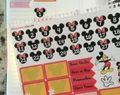 Disney Vacation Countdown Planner Stickers, Erin Condren Stickers, Disney Countdown, Coil Sticker Insert, 0025