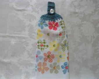 Hanging Double Kitchen Towel FlowerTowel Hanging Crochet Top Towel