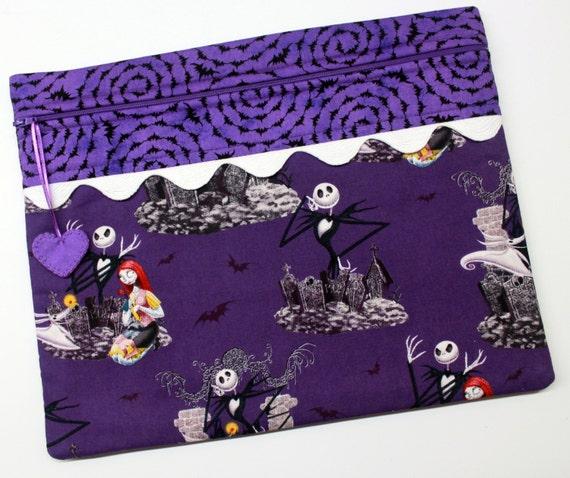 Purple Jack Skellington Halloween Cross Stitch,Embroidery Project Bag