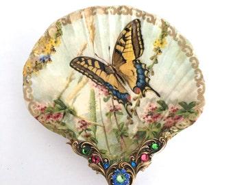 Butterfly Medium Shell Jewelry Dish Ring Dish Trinket Dish Jewelry Holder