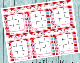 Printable Tic Tac Toe Valentine M&M's Game