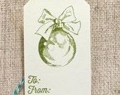 Christmas Gift Tags, Holiday Gift tags, Gift Tags Set, Set of 6, Christmas Ornament, Handmade Gift Tags
