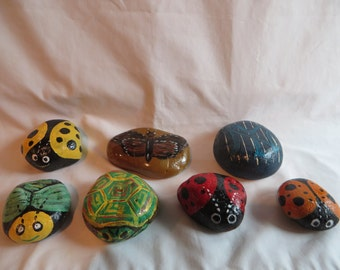Hand Painted Rocks for Paper Weights