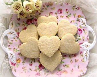 Box of Hearts 4 Dozen Shortbread Cookie Sampler - You Choose Flavors - Valentine's Day Gift
