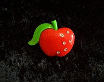 Red Resin Apple Brooch/Pin