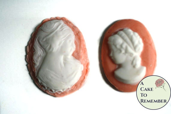 12 Fondant cameos for cake decorating or by ACakeToRemember