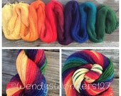 Gradient Yarn, Hand Dyed Yarn, Fingering Weight Yarn, MADE TO ORDER