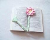 Crochet flower bookmark crochet bookmark handmade bookmark small gift ideas small birthday gift ideas teacher gift ideas handmade gift ideas