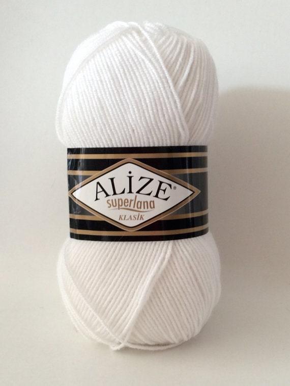 Knitting Yarn Uk Sale : Last one alize knitting yarn superlana klasik white