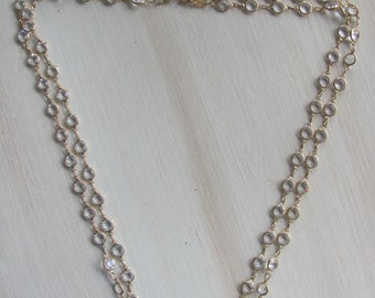 B.E. Cook London Necklace Double Strand Crystal