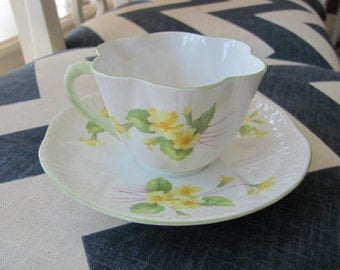 Vintage Shelley Primrose Tea Cup and Saucer