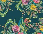 1 Yard Coquet Bouquet, Joie de Vivre Collection by Bari J, Art Gallery Fabrics, Quilting Cotton