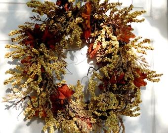Fall Wreath , Autumn Wreath , Woodland Wreath , Outdoor Wreath , Door Wreath