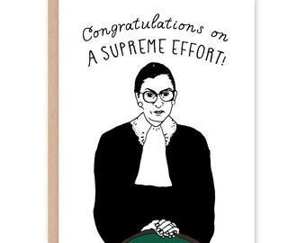 Ruth Bader Ginsburg Card - Congrats