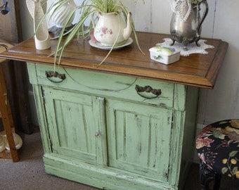 Painted Furniture Buffet Server Cupboard Side Table Dresser Vintage Cottage Chic