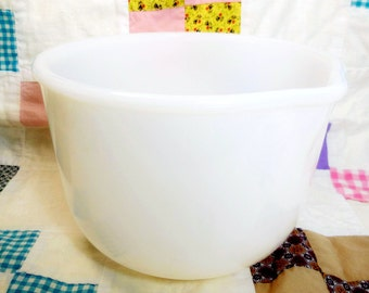 Milk Glass Mixing Bowl Sunbeam Glasbake 20 CJ 6.5 inch replacement collectible