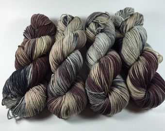 Light Worsted, DK, Superwash Merino, 100 grams, Hand Dyed Yarn, Walking In The Jungle , double knitting,
