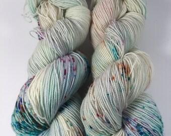 BFL Twist, Sock Yarn, Hand Dyed Yarn, Take It From The Top, Superwash BFL, blue faced leicester, High Twist, Multi Colored Yarn, yarn