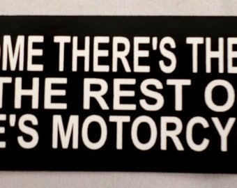 For Some There Is Therapy Biker Uniform Motorcycle Helmet Decal Sticker