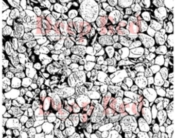 Deep Red Cling Rubber Stamp Rubber Stamp Rocks Background