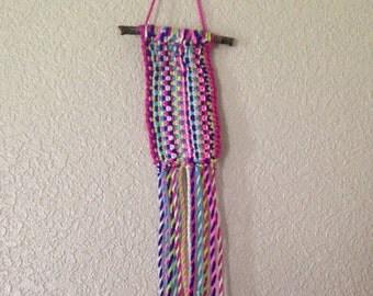 Knit Wall Hanging / Boho Decor