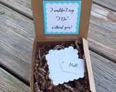 Will You Be My Bridesmaid? Ring Pop Garland message box, be my Maid of Honor, secret message, bridesmaid proposal, bridesmaid card