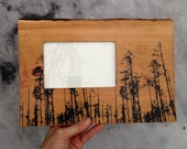 Forest Frame, Wood Frame, Wedding Gift, One of a Kind Gift
