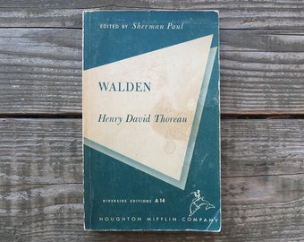 Vintage 1957 Walden by Henry David Thoreau / Walden Book / Life in the Woods Book