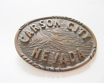 Carson City Nevada Belt Buckle State Capital - FL