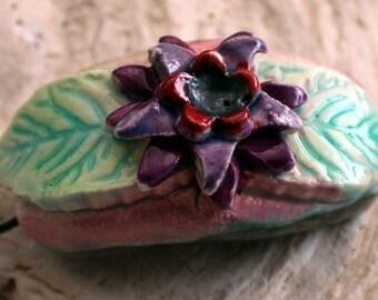 Sculpted Flower Bracelet Focal #2