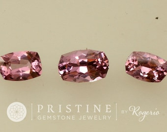 Rose Pink Spinel Cushion Shape 4.09 Carats Set September Gemstone