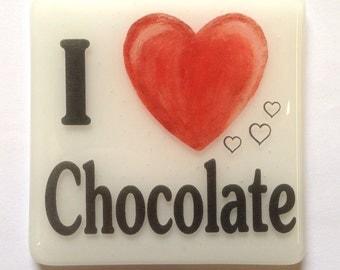 I 'Heart' Chocolate Coaster