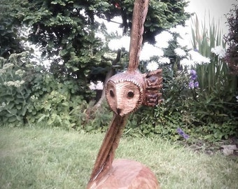 Owl Chainsaw Carving, Wood Sculpture