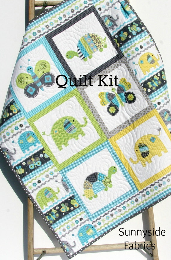 Simple Quilts Templates Quilt Kit : Quilt Kit Boy Bundle of Love Panel Quick Easy Beginner