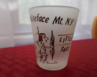 Vintage 1950s to 1960s Whiteface Mt. N.Y. Big Shot/Little Shot Indian Shot Glass Barware Bar Funny