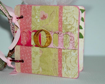 Mom brag book premade pages family mini scrapbook album