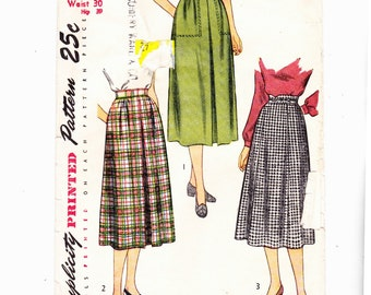 "Simplicity 2211 Vintage Misses Skirts waist 30"" Hip 39"" Nice Workday Skirts"