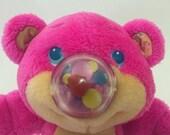 vintage FUNSY Nosy Bear Playskool Pink Balloon Plush Vintage Toy 80s