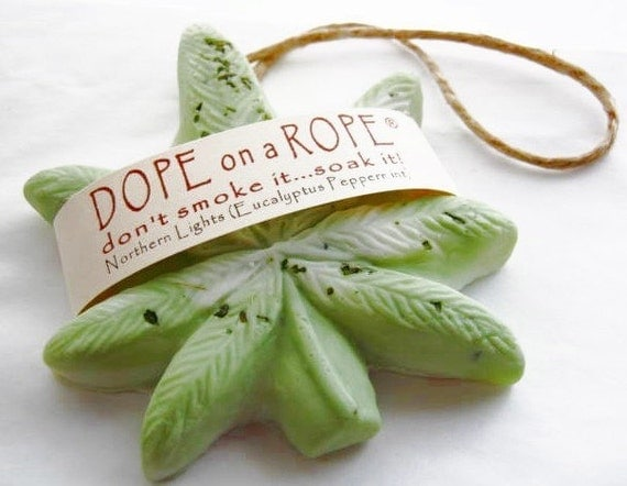 Dope on a Rope Soap - Northern Lights Eucalyptus Peppermint - St Paddys Gifts - Hemp Oil Soap on a Rope - Gifts For Him - Gifts for Her