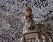 Vintage Hummel miniature figurine, for Mother, tiny collectible