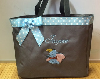 Personalized Baby Dumbo Elephant Diaper Bag Tote