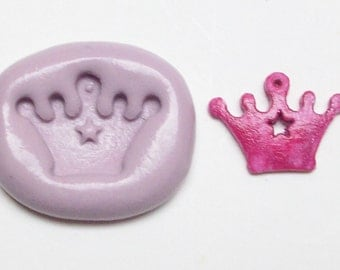Crown Mold #872 - silicone mold, craft mold, porcelain mold, jewelry mold, metal mold, charm mold, clays mold, flexible mold