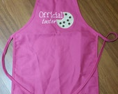 Official Cookie Taster Kids Chef Apron Childrens Size Apron, Valentine's Day Quick Ship