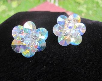 Vendome Aurora Crystal Clip Earrings