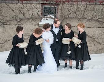Warm, Cozy Muff, Winter Accessories, Winter Fashion, Brides Maids, Winter Wedding, Fully Lined, Fur Muff, White Muff, Wedding Muff