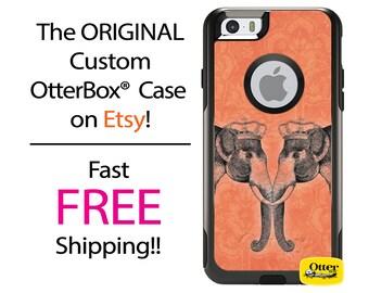 iPhone OtterBox Commuter Case for iPhone 7, 7 Plus, 6/6s, 6 Plus/6s Plus, 5/5s/SE, 5c Galaxy S7 S6 S5 Note 5 Custom Elephant Love Damask Art